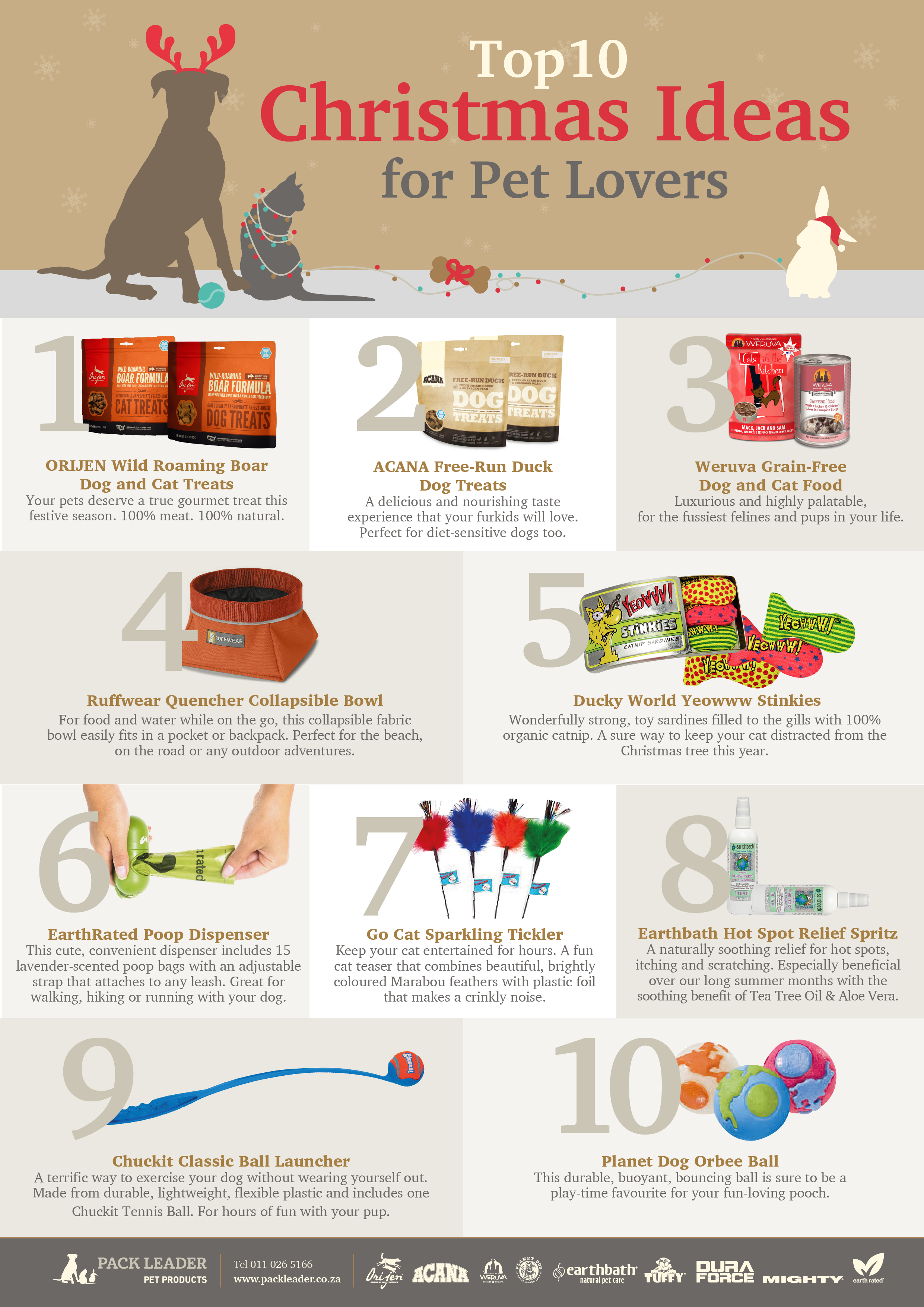 Top 10 Christmas Ideas for Pet Lovers